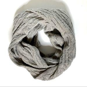 Celeste Cashmere Blend Grey Infinity Scarf